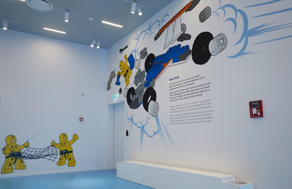 Foliering och wayfinding för LEGO House