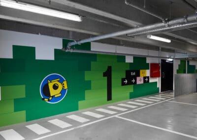 Wayfinding för Lego House - parkering